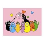 Barbapapa Postkort Familie Pink