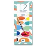 Vandfarve - 12 klassiske farver.