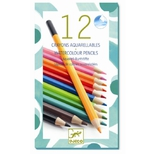 Akvarelfarveblyanter - 12 klassiske farver.