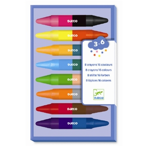 Fedtfarver - 8 dobbelt farver