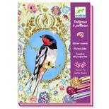 Kreativ æske, glitterkort – Fugle