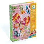 Kreativæske - Glitterkort, Sommerfugle