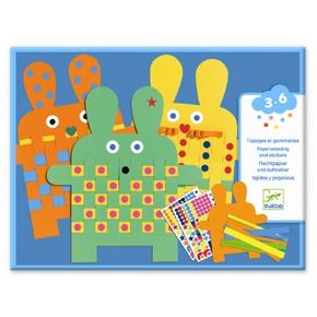 Klistermærkeleg - kaniner