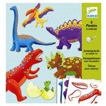Sprællemand på pind - Dinosaurer