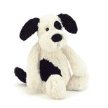 Bashful hund, sort/creme mellem 31 cm