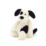 Bashful hund, sort/creme lille 18 cm