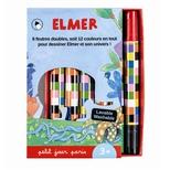 Elmer s't med 6 filtpenne, med dobbeltende.