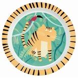 Jungle, tallerken tiger