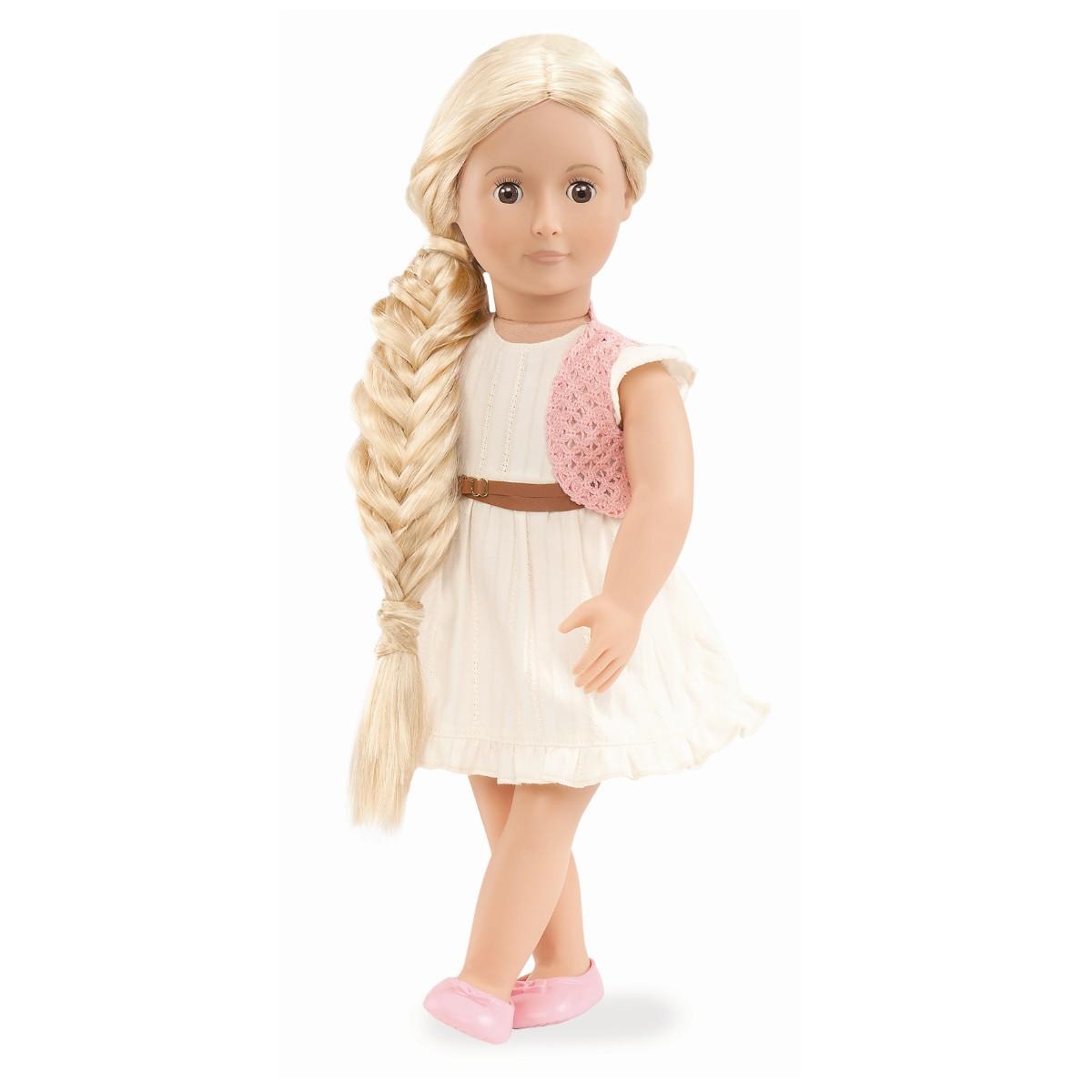 dukkehoved med hår