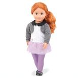 Ella Grace dukke med lilla leggins