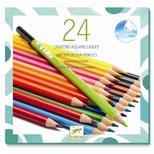Akvarelfarveblyanter - 24 klassiske farver