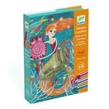 Kreativ æske, glitterkort - Havfruer