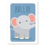 Elefant hallo plakat, A4