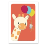 Giraf og mus plakat, A4