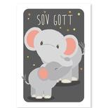 Elefant med unge plakat, Svensk A4