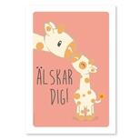 Giraf med unge, Svensk A4