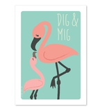 Studio Circus postkort, Flamingo
