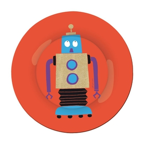 Robotter frokost tallerken, rød