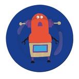 Robotter frokost tallerken, bl†