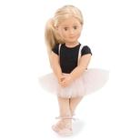 Violet Anna dukke, med tylskørt
