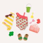 Dukketøj, badedragt med vandmelon