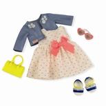 Deluxe dukketøj, kjole med hjerter