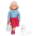Lori Dukke med hvid kat