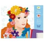 Kreativt papir, blomsterpiger