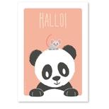 Studio Circus plakat, Panda & mus A4