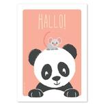 Studio Circus postkort, Panda & mus