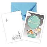 Luftballon dobbeltkort /m kuvert