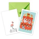 Noahs ark dobbeltkort /m kuvert