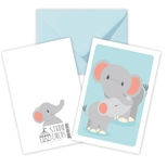 Elefant dobbeltkort /m kuvert