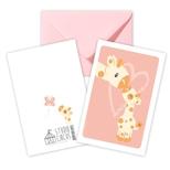 Giraf dobbeltkort /m kuvert