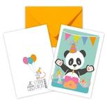 Panda dobbeltkort /m kuvert