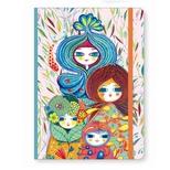 Lovely Paper notesbog med elastik, Cyndi