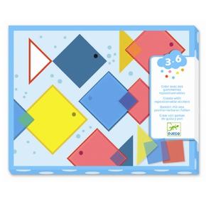Kreativ collage for de små, Magiske firkanter