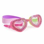 Svømmebrille, hjerte pink