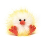 Crazy Chick Gul & Hvid, 11 cm