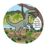 Dino tallerken, Velociraptor