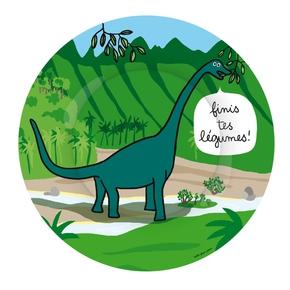 Dino tallerken, Langhals