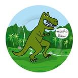 Dino tallerken, T-rex