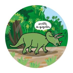 Dino tallerken, Triceratops