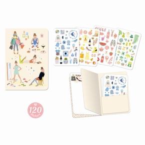 Lovely Paper Tinou stickersbog (120 stk.)