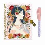 Lovely Paper Oana dagbog med lås og magisk pen