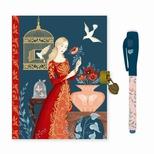 Lovely Paper Lisa dagbog med lås og magisk pen