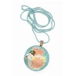 Lovely Surprise - Halskæde med medaljon, Svane