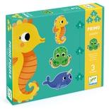 Primo puslespil, Havets dyr - 4, 6 og 9 brikker
