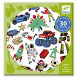Klistermærker - Pudemærker, Retro legetøj