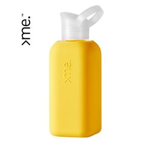 >me flaske i glas, gul